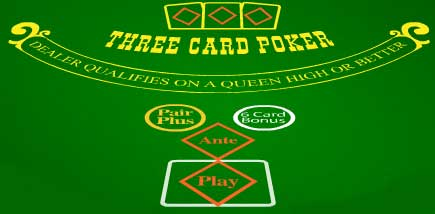 3 card drop poker rules hands down