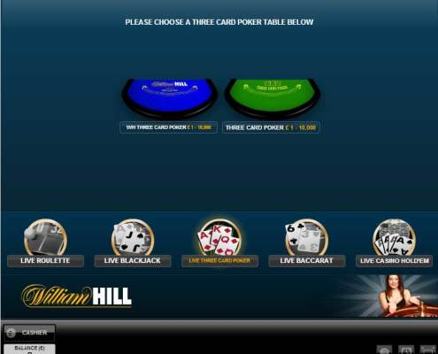 william hill live casino lobby