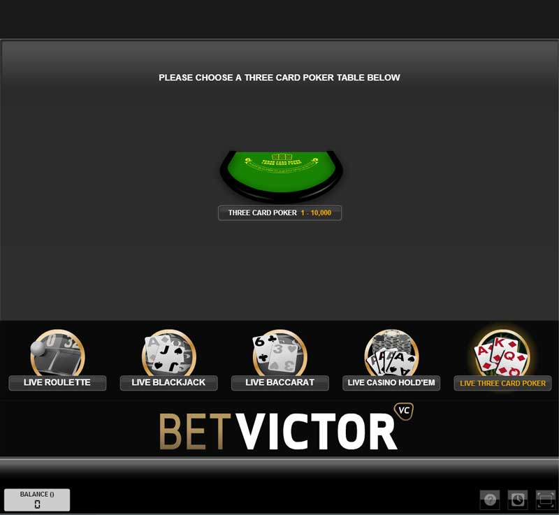 Betvictor Casino Review 3 Card Poker Games